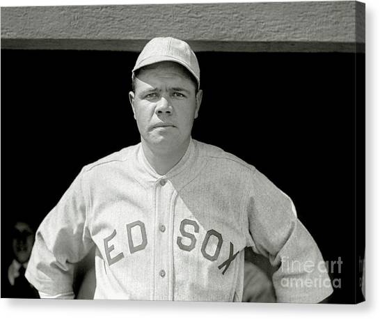 Babe Ruth Canvas Print - Babe Ruth Red Sox by Jon Neidert