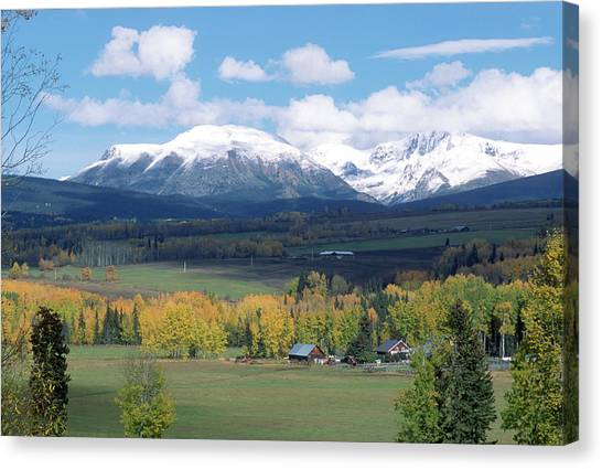 Babine Range-fall View Canvas Print