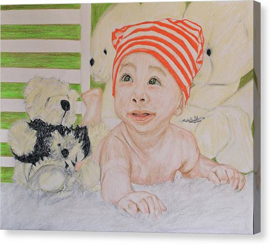 Baby And Stuff Bears Canvas Print