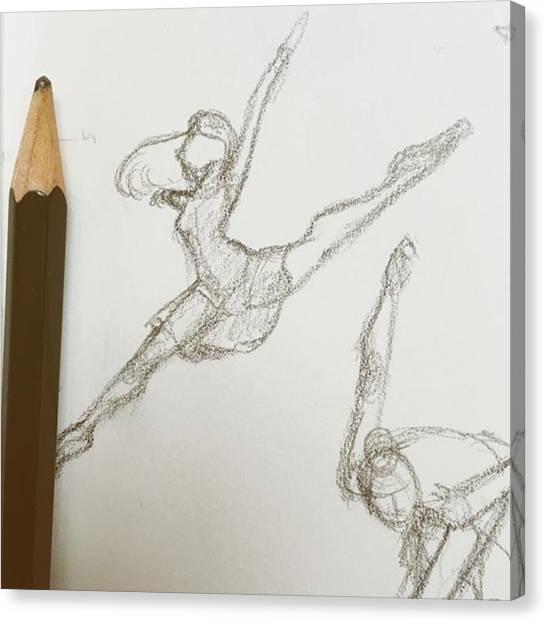 Ballerinas Canvas Print - Baby Ballerina Doodle.. These Are Fun by Rachel Korsen