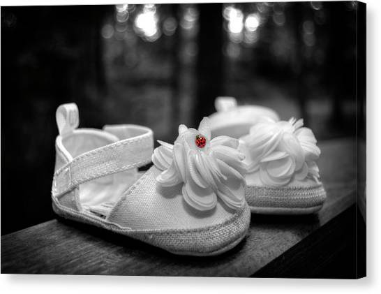Baby Bootie Bug - Red Canvas Print