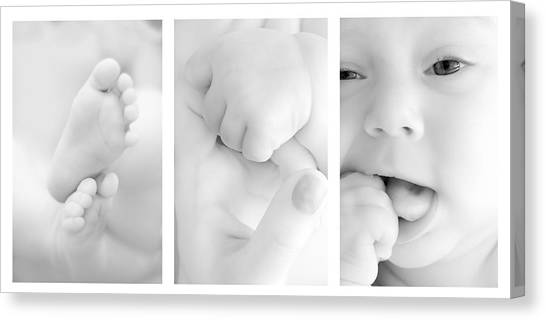 Baby Canvas Print - Baby Details by Jaroslaw Grudzinski