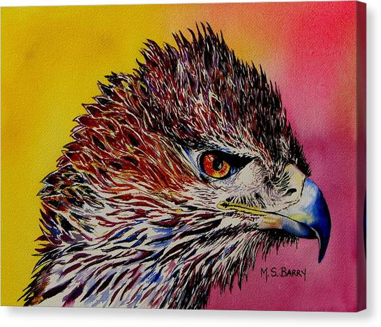 Baby Eagle Canvas Print by Maria Barry