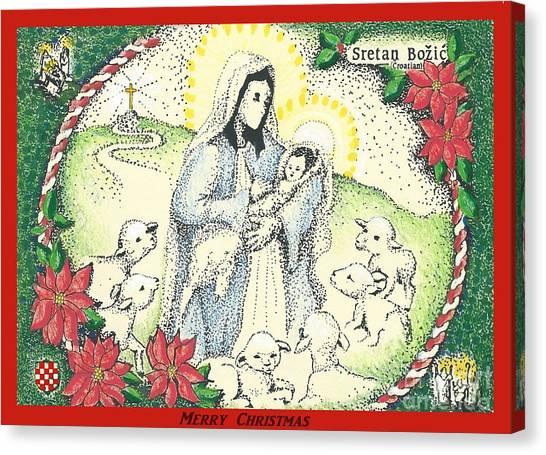 Baby Jesus In Medjugorje Canvas Print
