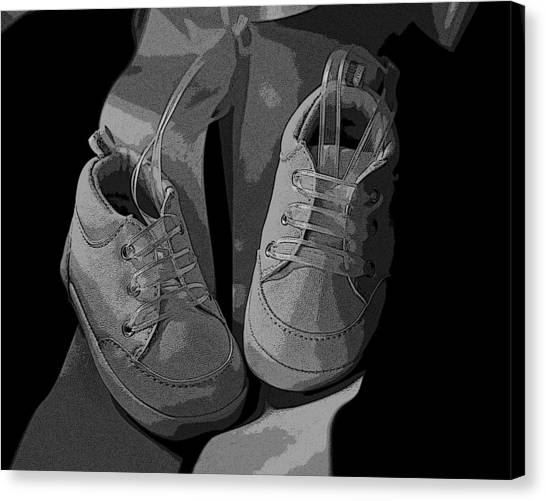 Baby Shoes Canvas Print by Deborah Williams
