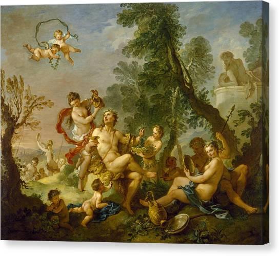 Rococo Art Canvas Print - Bacchanal by Charles-Joseph Natoire