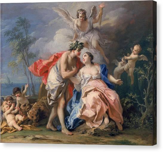 Minotaur Canvas Print - Bacchus And Ariadne by Jacopo Amigoni