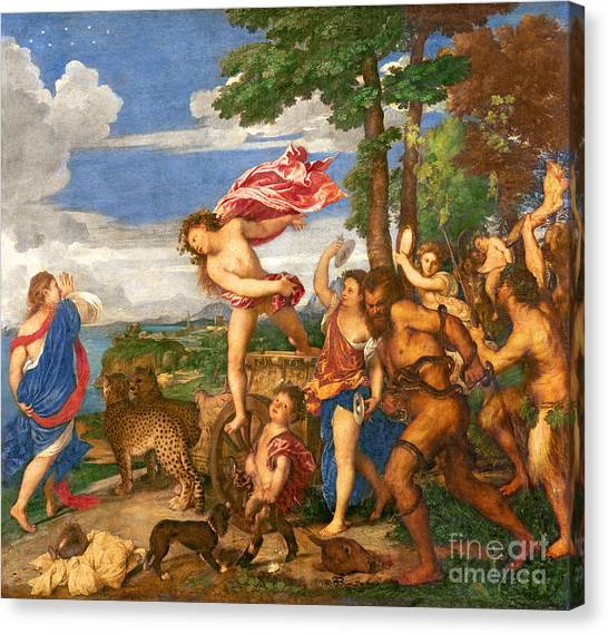 Tambourines Canvas Print - Bacchus And Ariadne by Titian