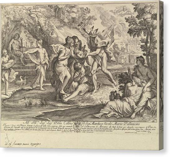 Procaccini Canvas Print - Bacchus As A Child Given By Mercury To The Care Of The Nymphs by Andrea Procaccini