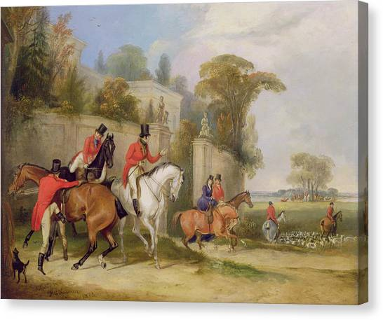 Bachelor Canvas Print - Bachelor's Hall - The Meet by Francis Calcraft Turner