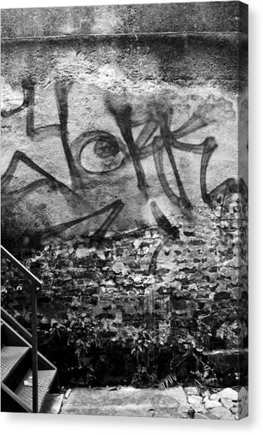 Graffiti Canvas Print - Back Alley Graffiti  by Dustin K Ryan