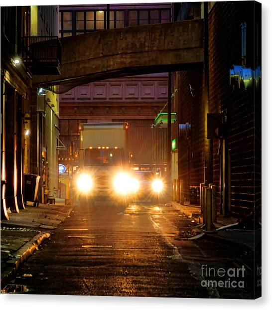 Philadelphia Phillies Canvas Print - Back Alley by Olivier Le Queinec