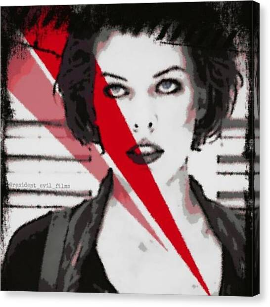 Canvas Print - Back At Editing! #millajovovich by Resident Evil