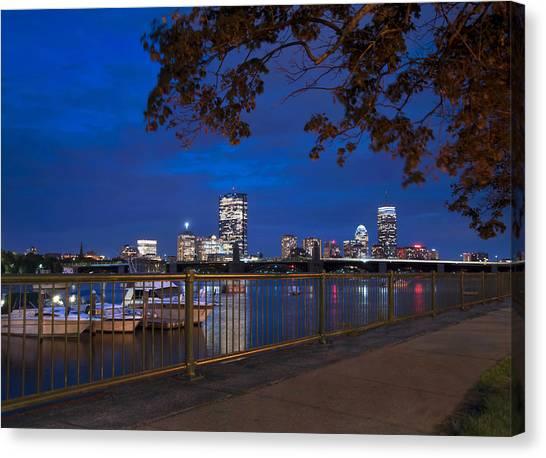 Fenway Park Canvas Print - Back Bay Skyline - Boston by Joann Vitali