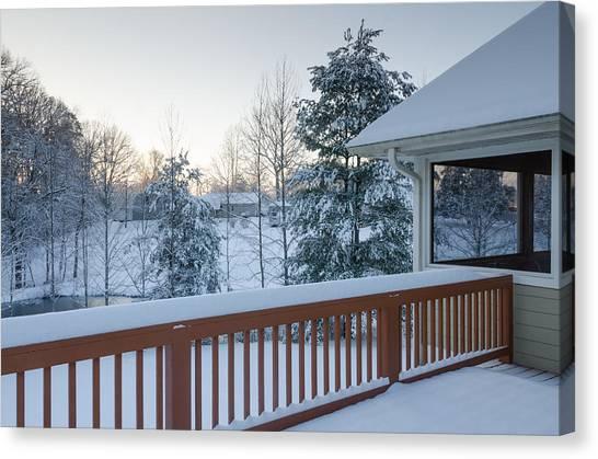 Winter Deck Canvas Print