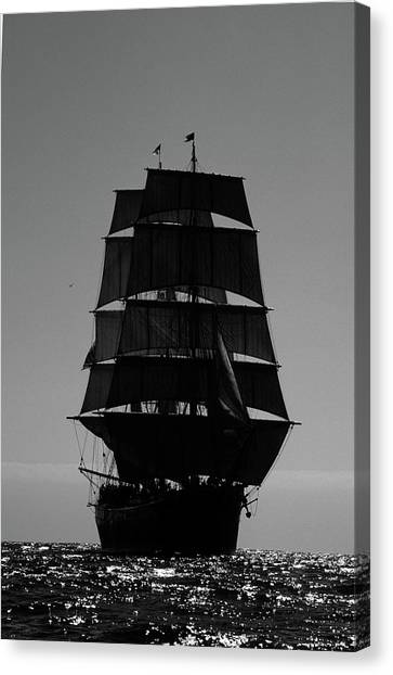 Back Lit Tall Ship Canvas Print