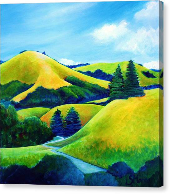 Back Of Mindego Hill Canvas Print by Stephanie  Maclean