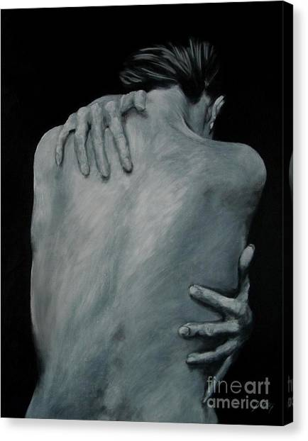 Back Of Naked Woman Canvas Print