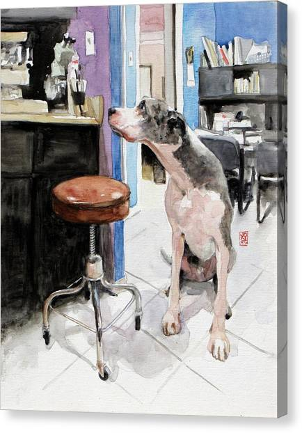 Great Danes Canvas Print - Back Office by Debra Jones