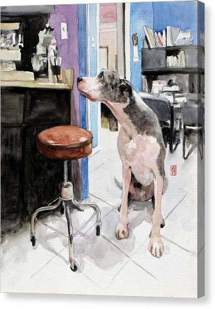 Great Danes Canvas Print - Back Office by Debra Jones