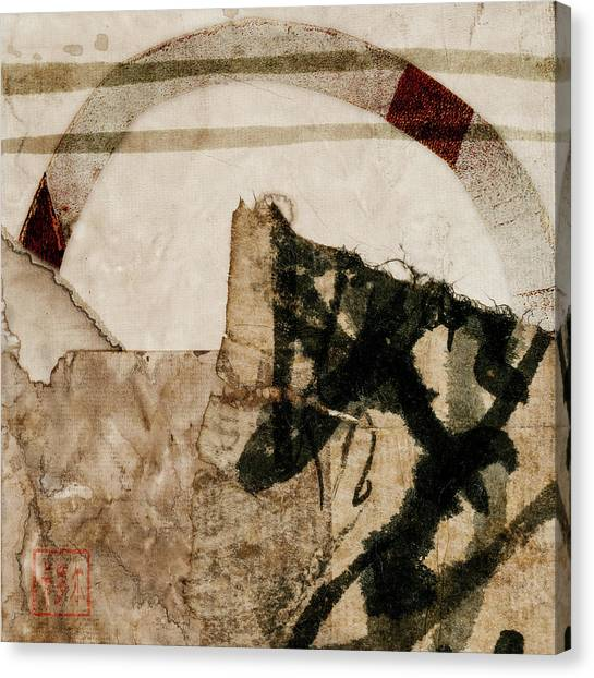 Torn Paper Collage Canvas Print - Back Pages 1 Of 3 by Carol Leigh