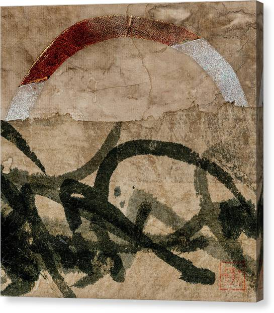 Torn Paper Collage Canvas Print - Back Pages 2 Of 3 by Carol Leigh