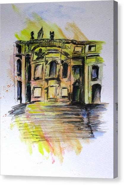 Back Side Basilca St Mary Major Canvas Print