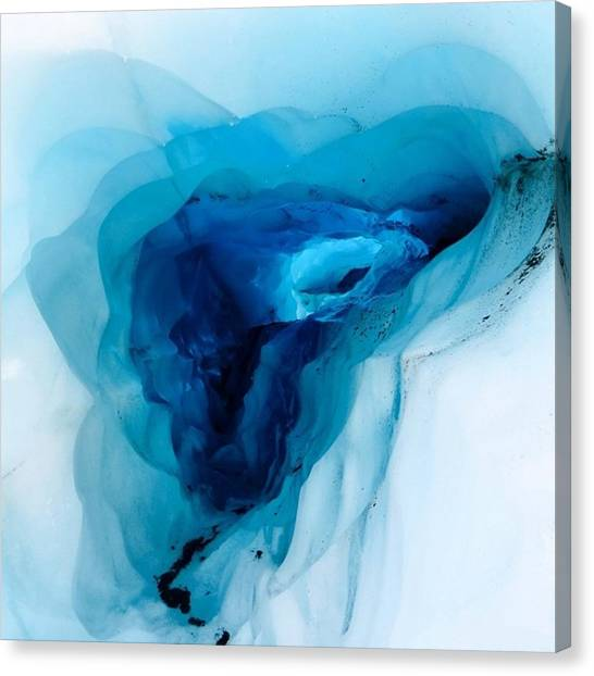 Ice Caves Canvas Print - Ice Caving  by Ryan Tuck