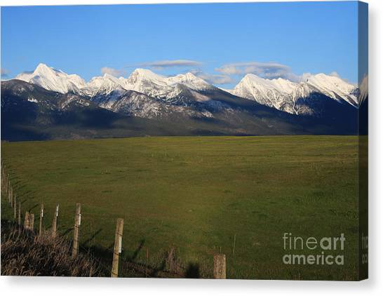 Back To Mission Mountains Canvas Print