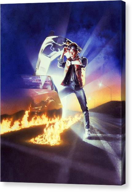 Back To The Future Canvas Print - Back To The Future 1985 by Geek N Rock
