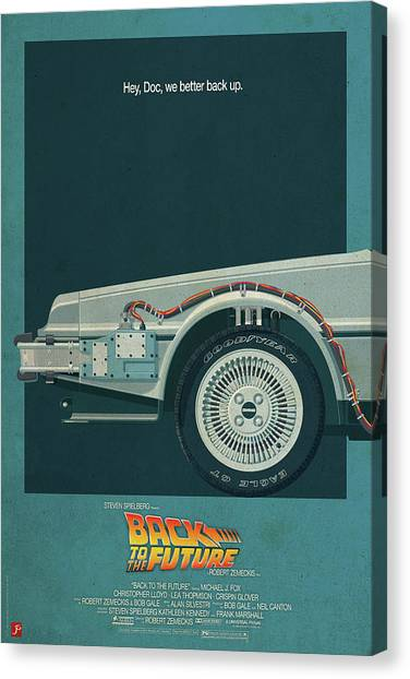 Back To The Future Canvas Print - Back To The Future Delorean Part 1 by Geek N Rock