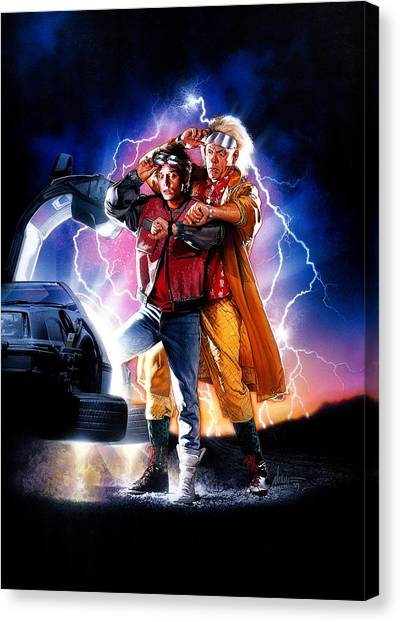 Back To The Future Canvas Print - Back To The Future Part II 1989 by Geek N Rock
