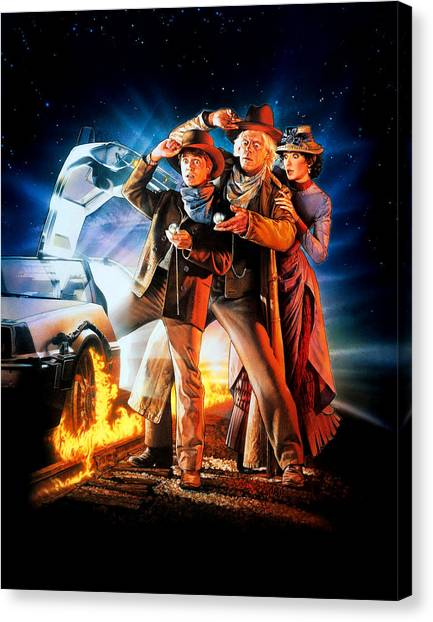 Back To The Future Canvas Print - Back To The Future Part IIi 1990 by Geek N Rock
