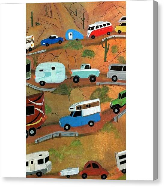 Painters Canvas Print - Back To The by Karyn Robinson