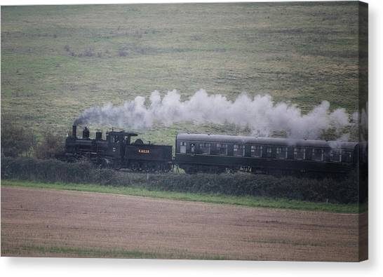 Steam Trains Canvas Print - Back To The Steam Days by Martin Newman