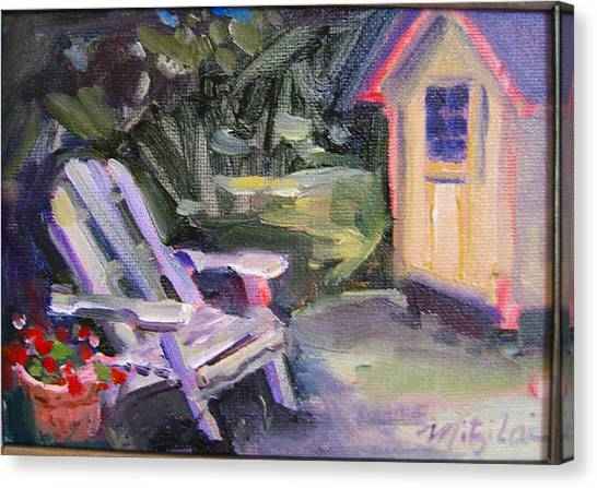 Back Yard Canvas Print by Mitzi Lai