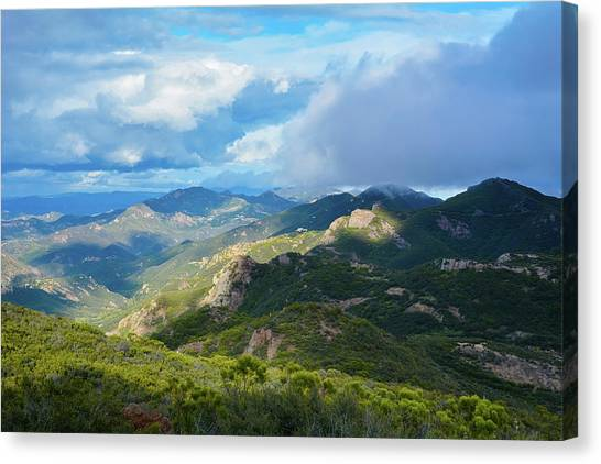Backbone Trail Santa Monica Mountains Canvas Print