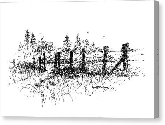 Backlit Fence Canvas Print