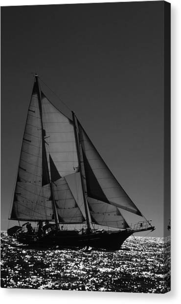 Backlite Schooner Canvas Print