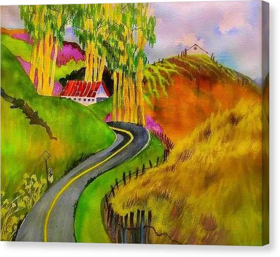 Backroads Sonoma County  Canvas Print