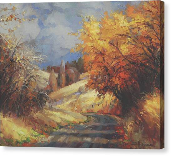 Countryside Canvas Print - Backroads by Steve Henderson