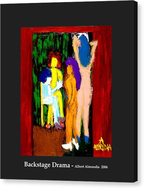 Backstage Drama Canvas Print by Albert Almondia
