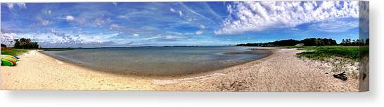 Canvas Print featuring the photograph Backwater Bay Pano by T Brian Jones