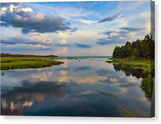 Backwater Sunset Canvas Print