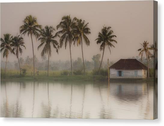 Fine Art India Canvas Print - Backwaters Of Kerala by Andrew Soundarajan