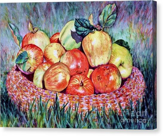 Backyard Apples Canvas Print