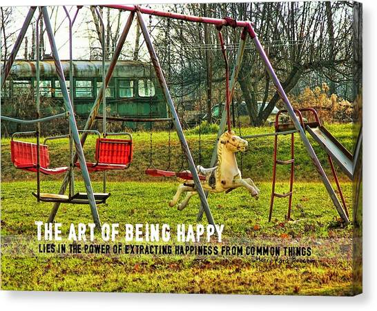 Backyard Play Quote Canvas Print by JAMART Photography