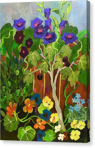 Backyard Wonders Canvas Print by Esther Woods
