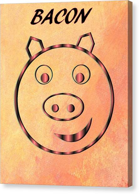 Eggs And Bacon Canvas Print - Bacon by Dan Sproul