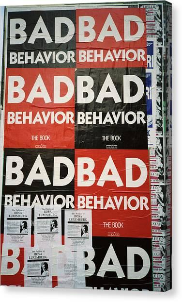 Bad Behavior Canvas Print